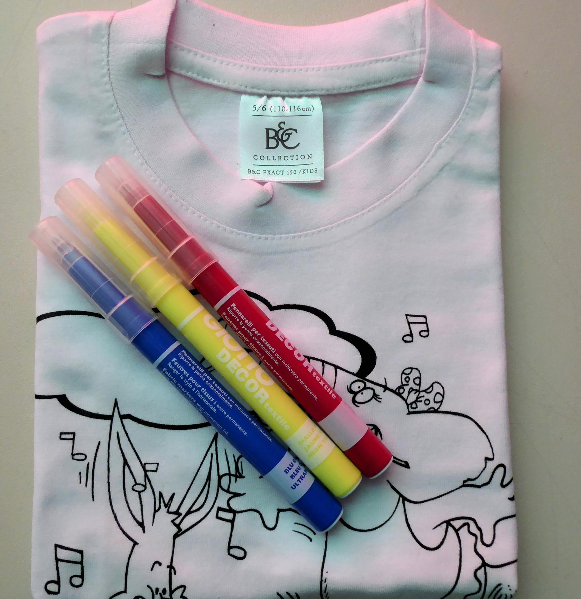 t-shirt da colorare